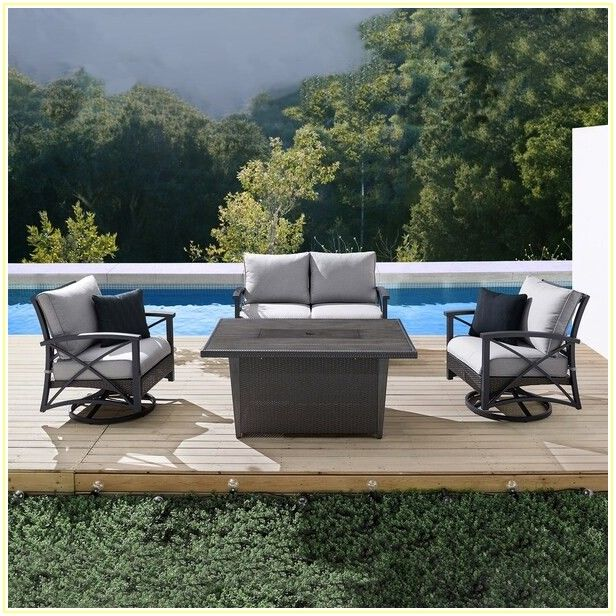 Martha Stewart 4 Piece Patio Set