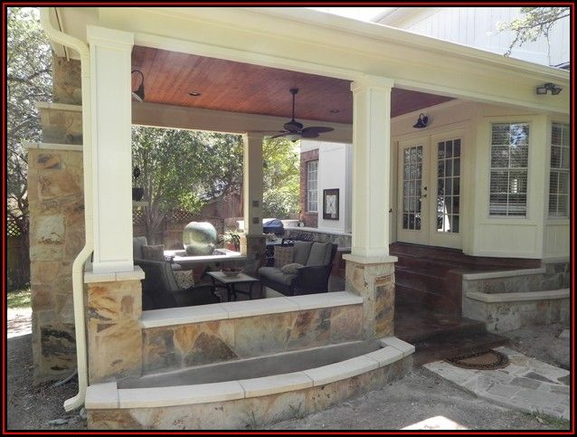 Outdoor Covered Patio With Fireplace Plans