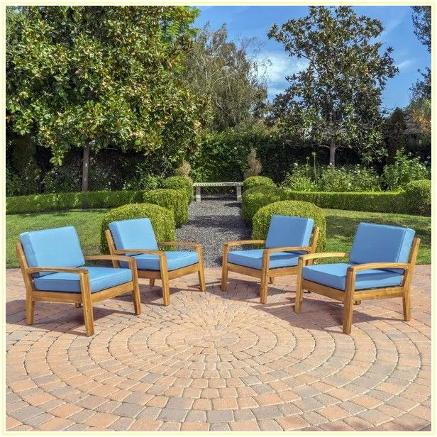 Outdoor Patio Chair Cushions Set Of 4