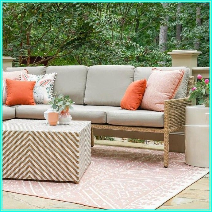 Outdoor Patio Conversation Sets With Sunbrella Cushions