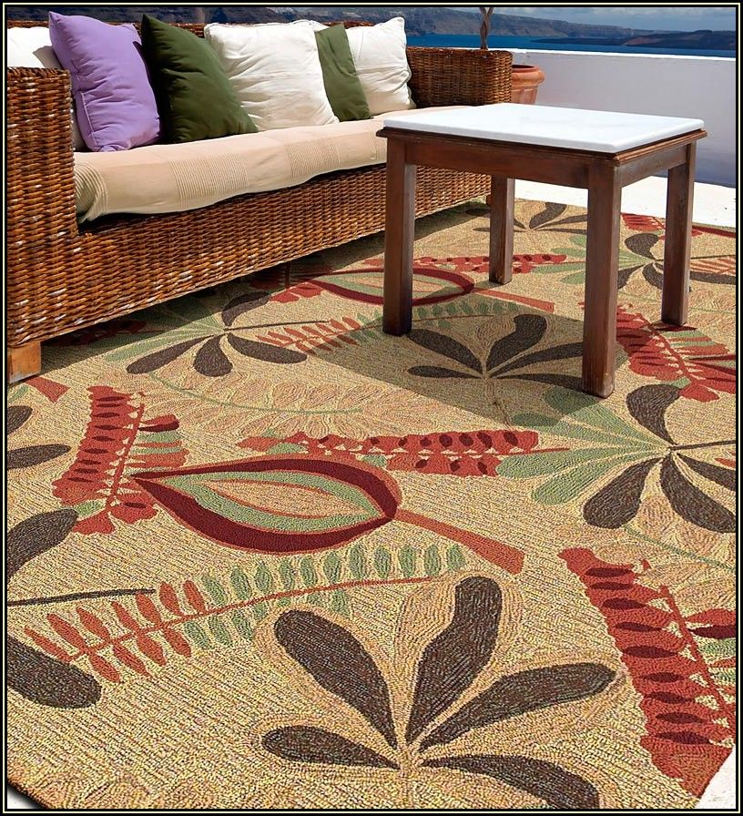 Outdoor Patio Rugs 8x10 Polypropylene