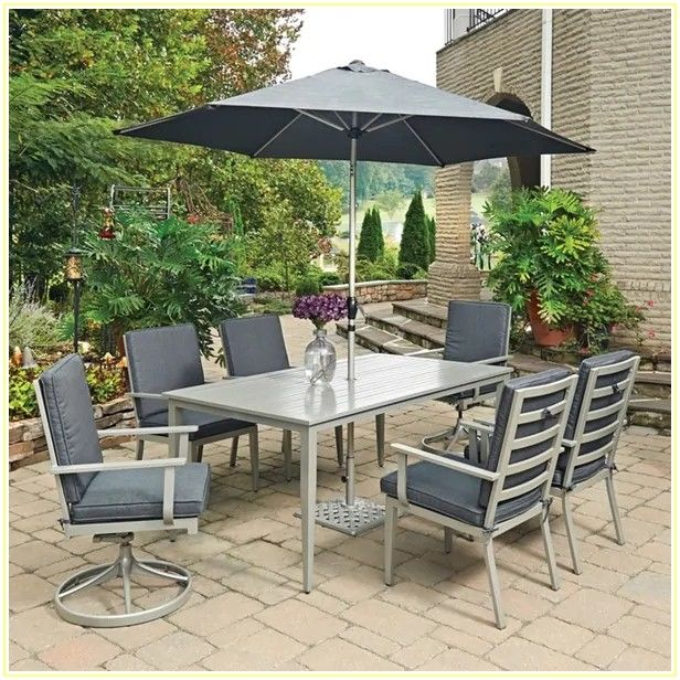 Outdoor Patio Table And Chairs With Umbrella
