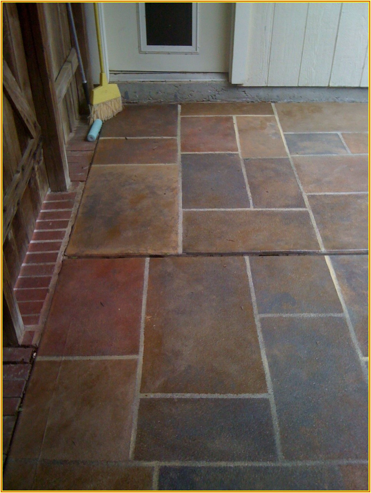 Paint Concrete Patio To Look Like Stone