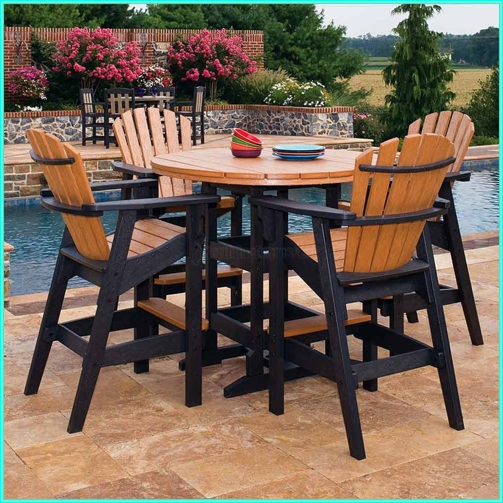 Patio Bar Height Table And Chairs Set
