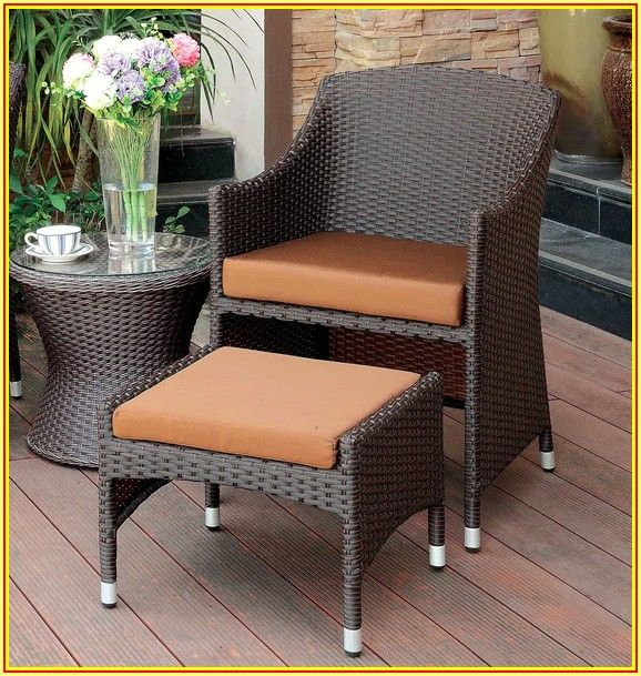 Patio Chair With Nesting Ottoman