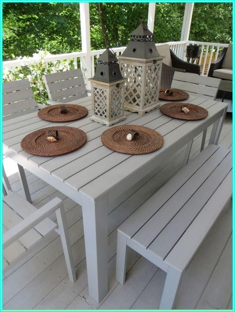 Patio Dining Set With Bench And Chairs