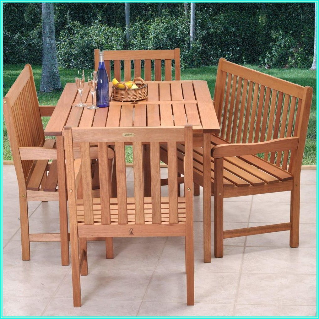 Patio Dining Set With Bench