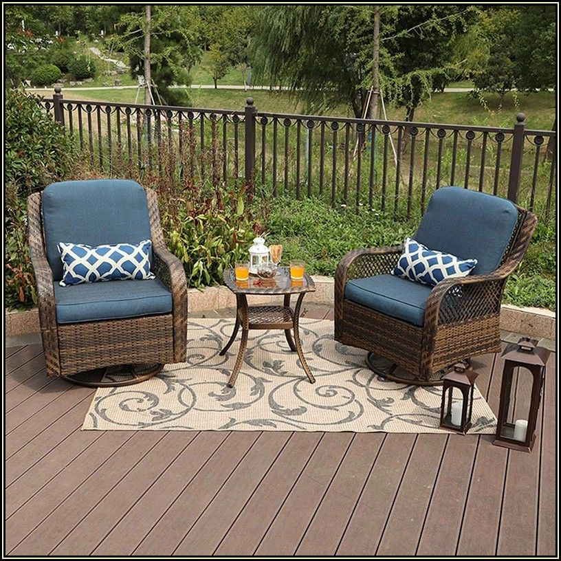 Patio Furniture Conversation Set With Swivel Chairs