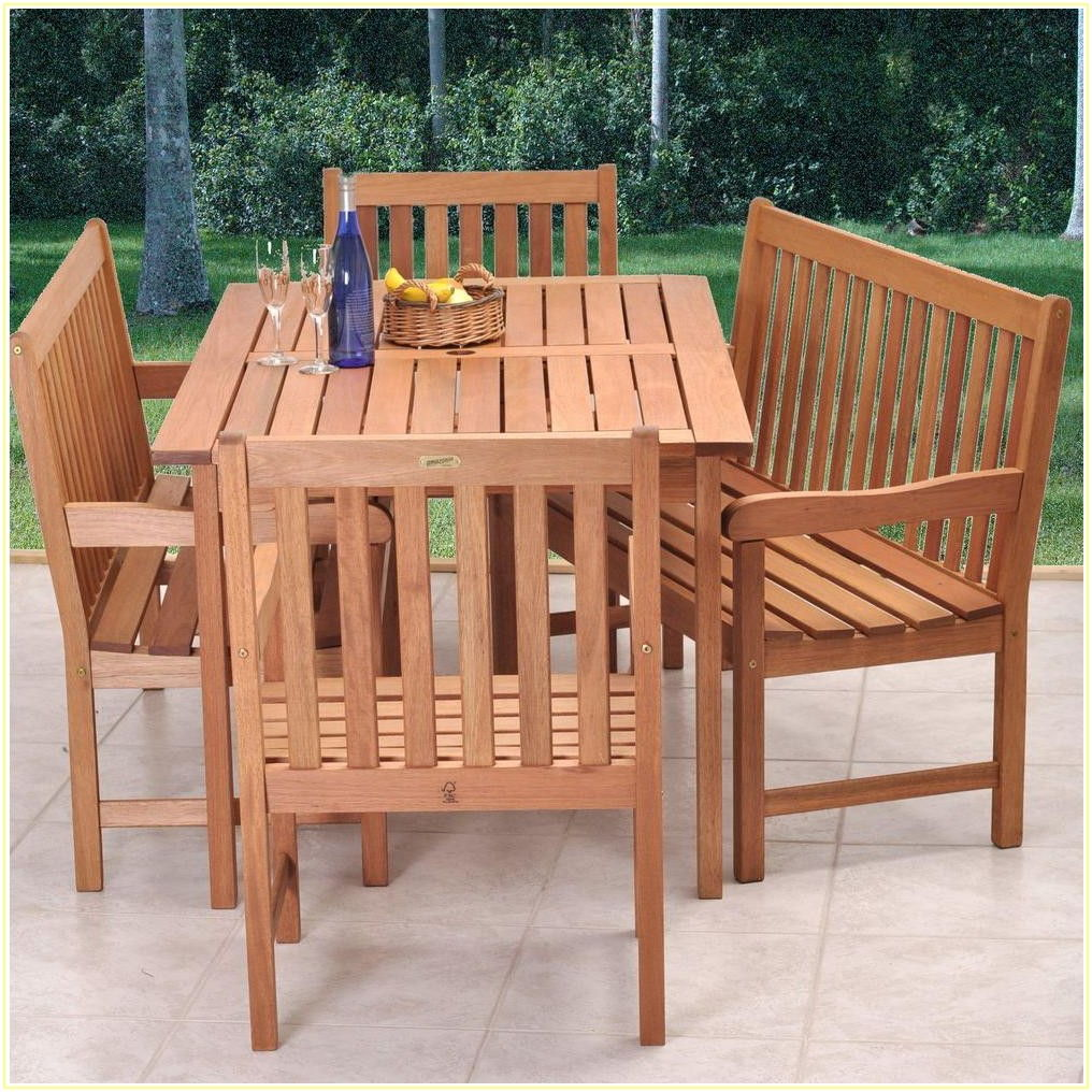 Patio Furniture Dining Set With Bench