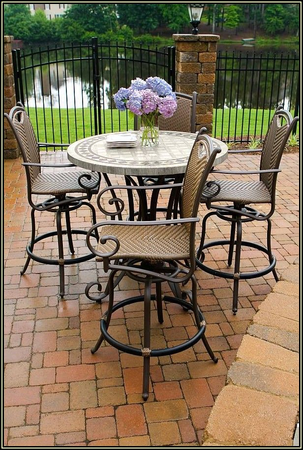 Patio Furniture High Top Table And Chairs