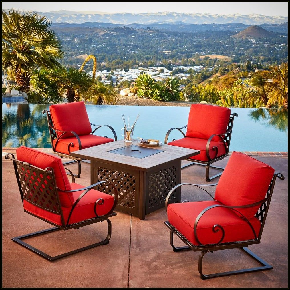 Patio Furniture Set With Fire Pit Home Depot