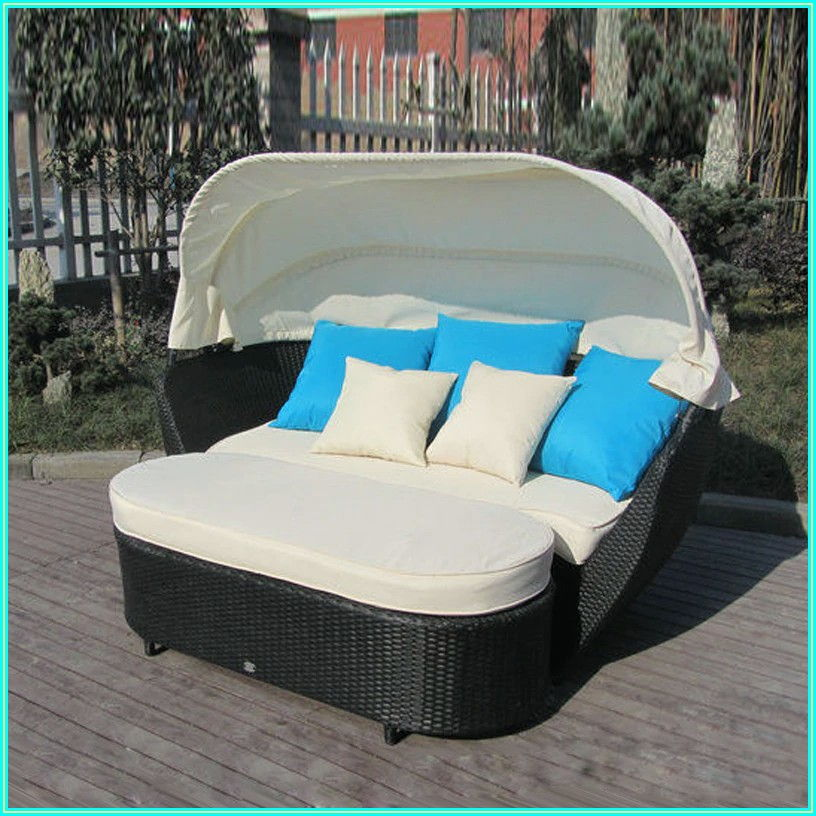 Patio Outdoor Daybed With Canopy