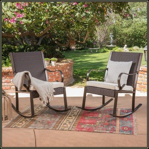 Patio Rocking Chair Set Of 2