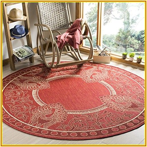 Patio Round Outdoor Rugs
