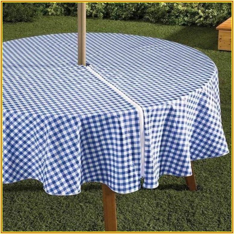 Patio Table Cover With Umbrella Hole Zipper