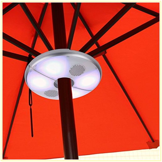 Patio Umbrella With Lights And Bluetooth