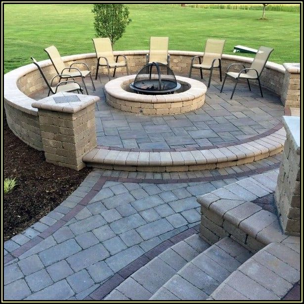 Paver Patio With Fire Pit Ideas