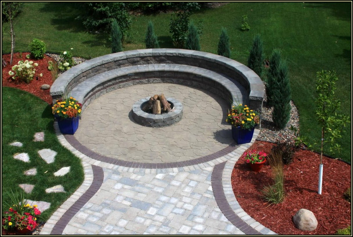 Paver Patio With Fire Pit Plan