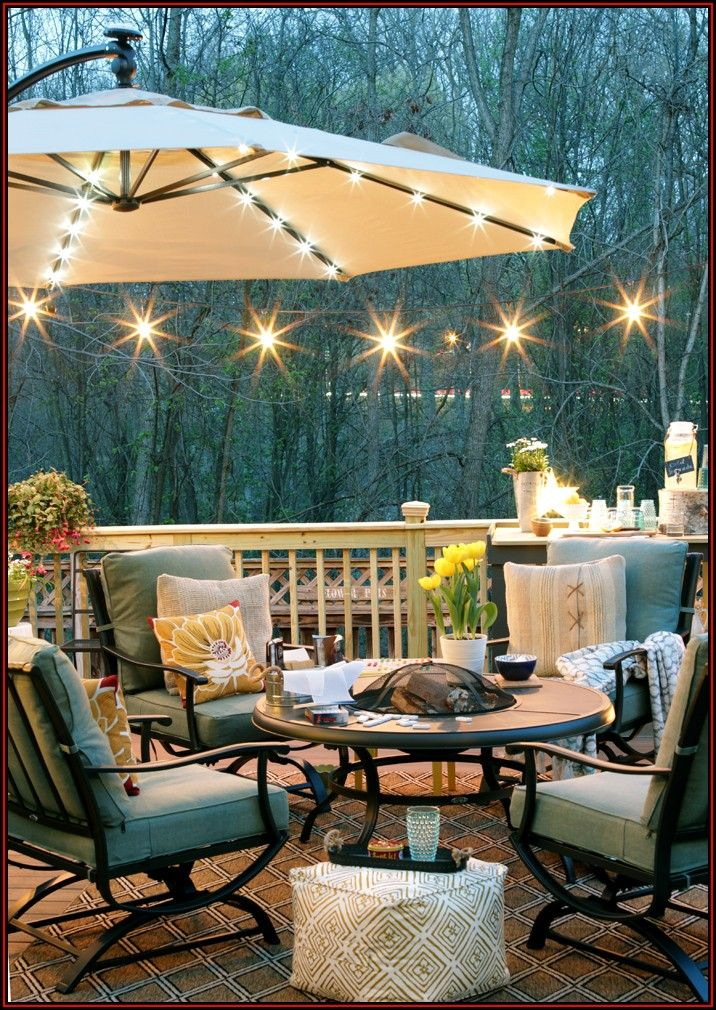 Pictures Of String Lights On Patio