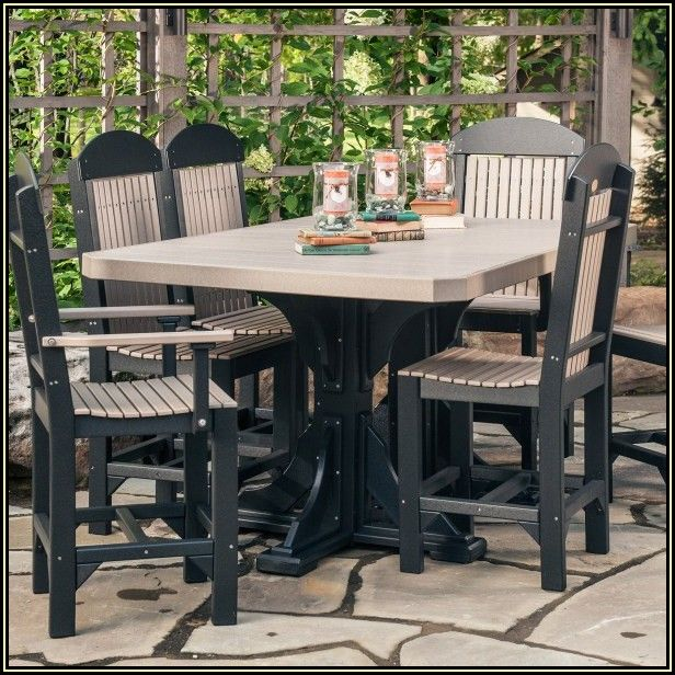 Rectangular Patio Dining Table Set