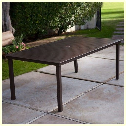 Rectangular Patio Table With Umbrella Hole