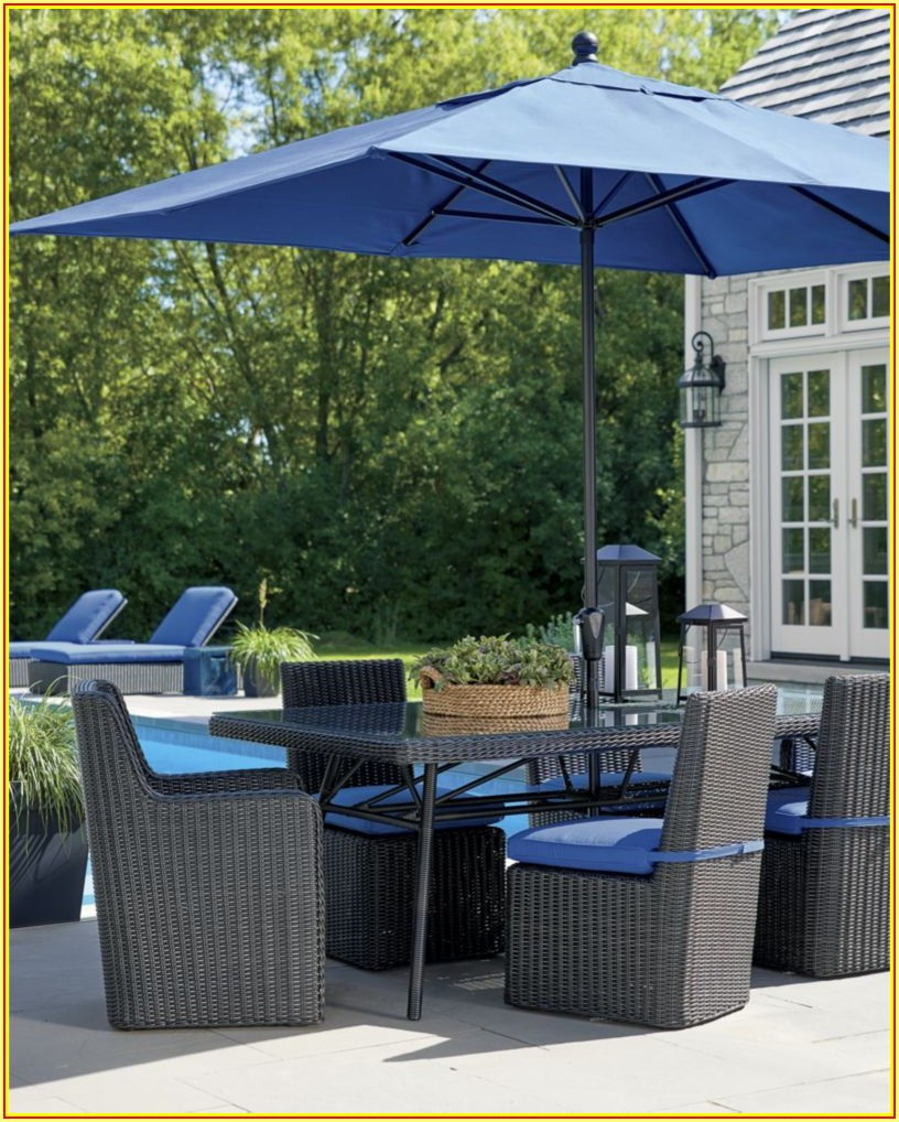 Rectangular Patio Umbrella Sunbrella