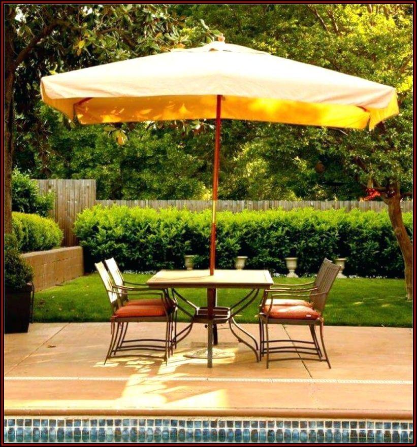 Rectangular Patio Umbrella With Lights