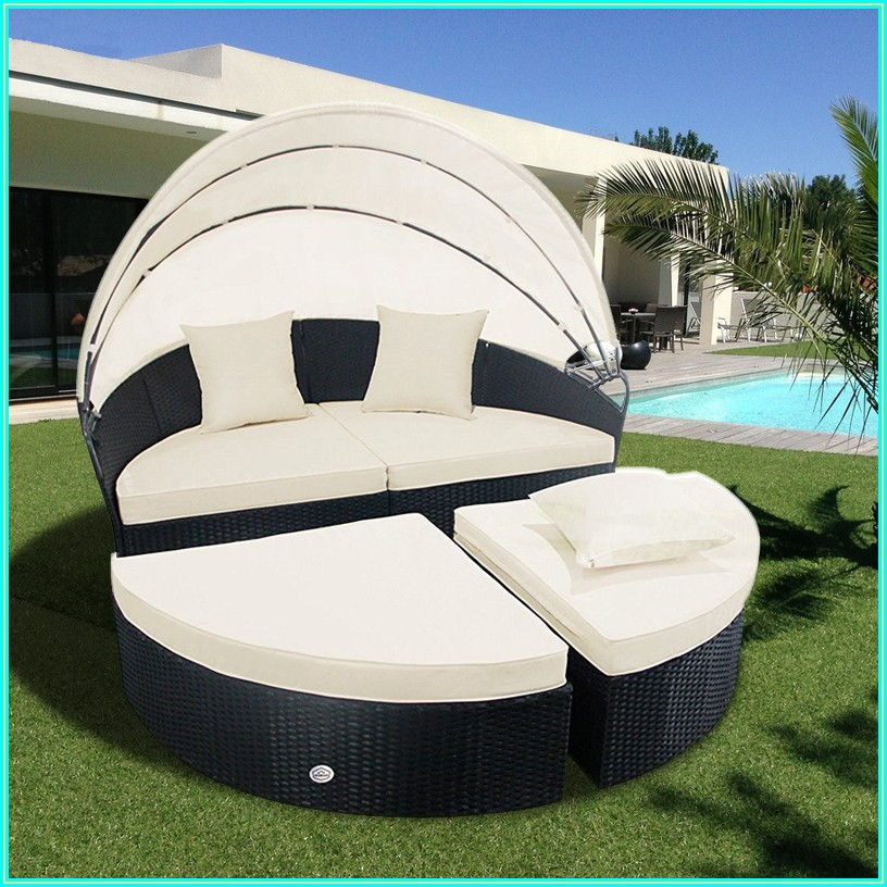 Round Patio Daybed With Canopy