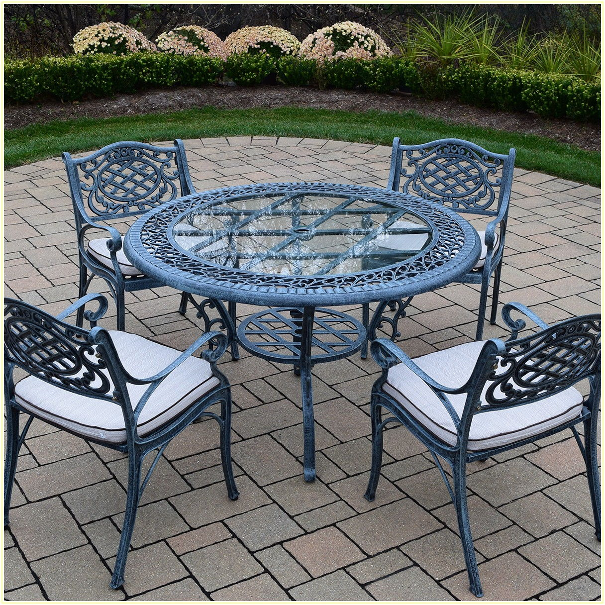 Round Patio Dining Sets For 4