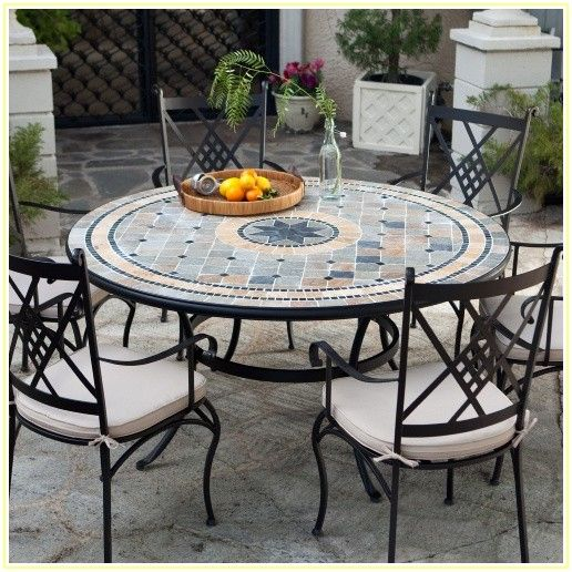Round Patio Dining Sets For 6