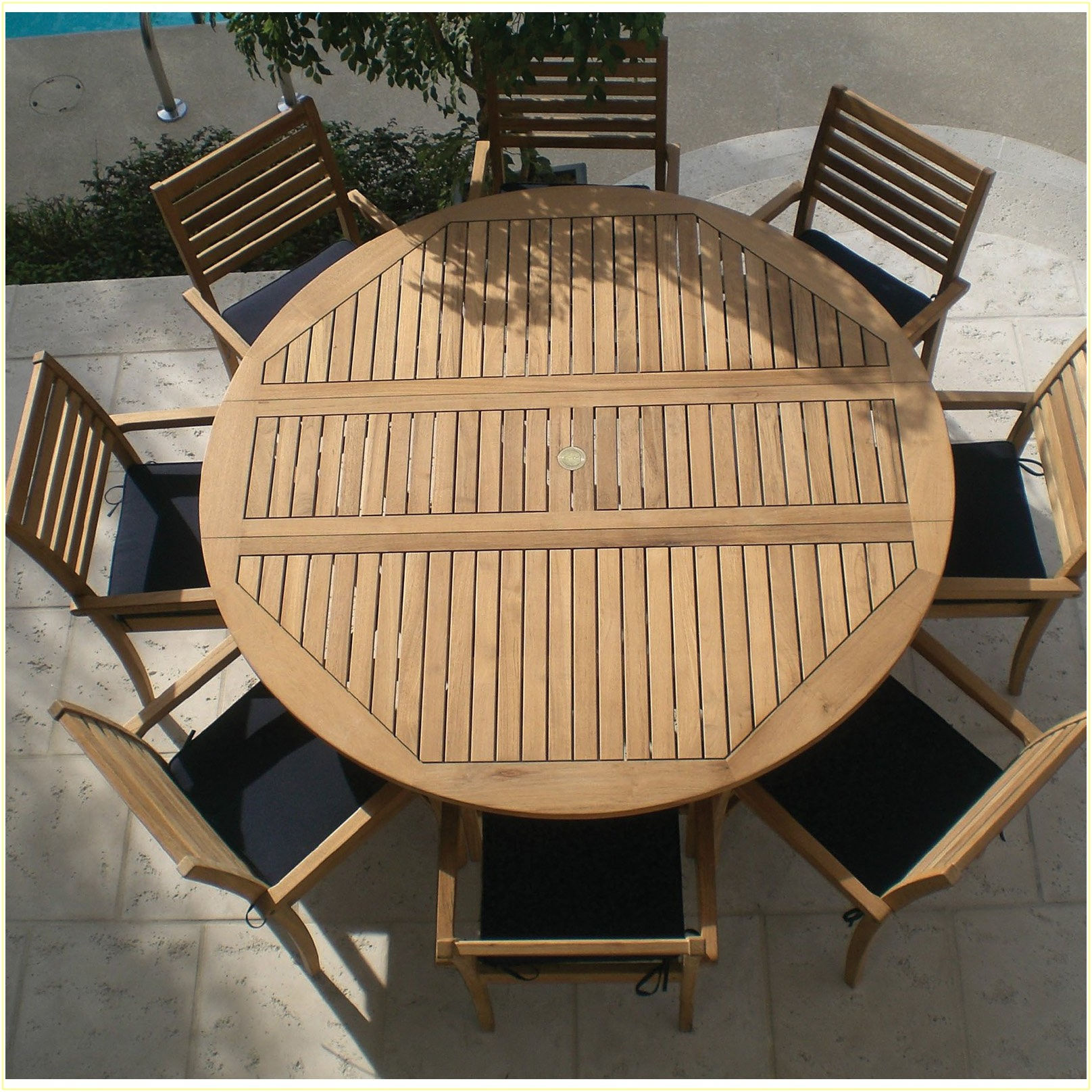 Round Patio Dining Sets For 8