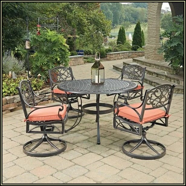 Round Patio Dining Table For 4