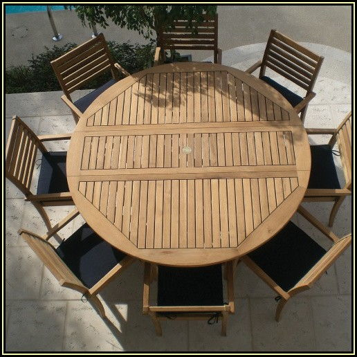 Round Patio Dining Table For 6