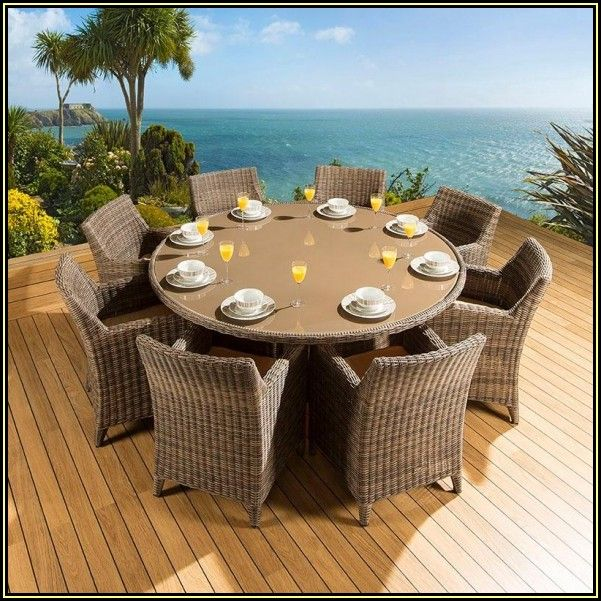 Round Patio Dining Table For 8