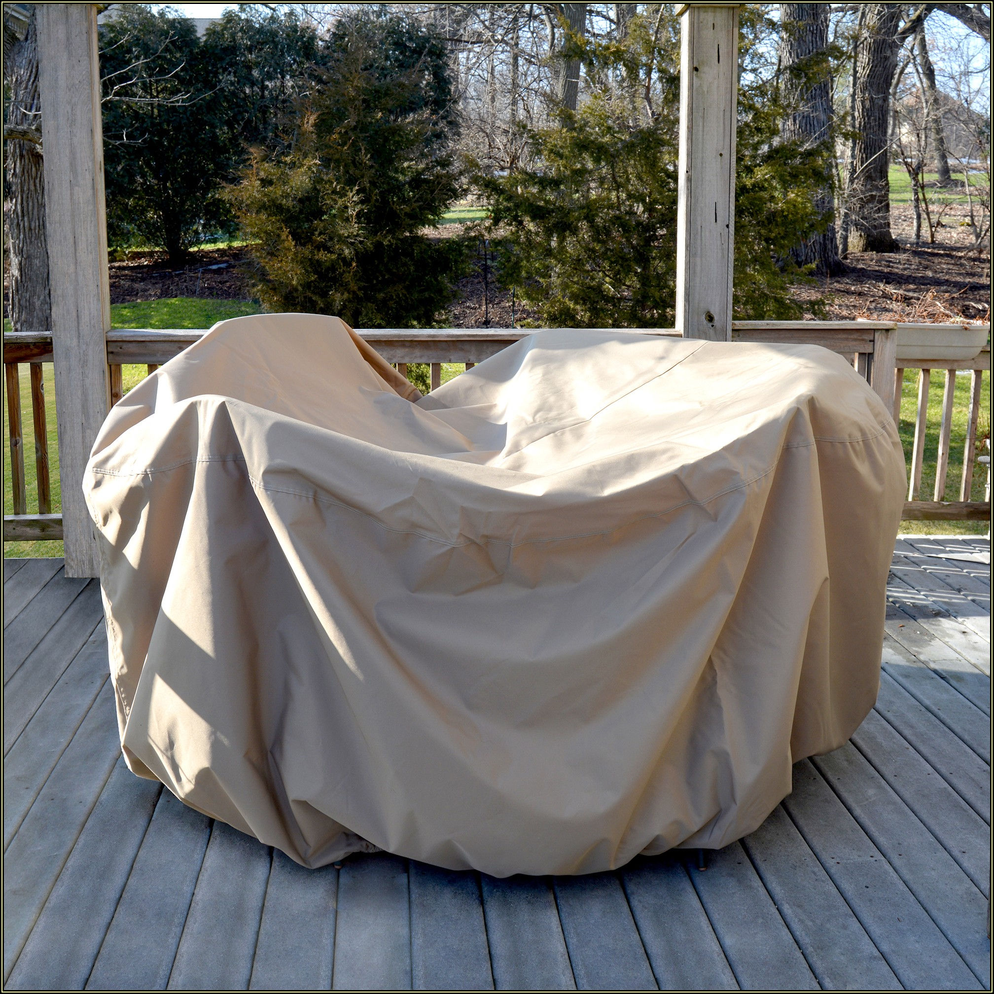 Round Patio Table Cover Winter