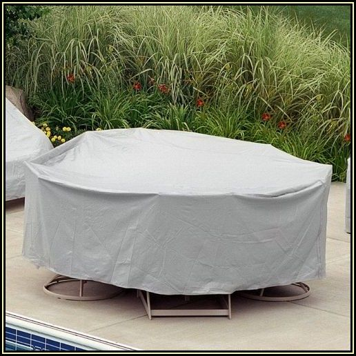 Round Patio Table Set Cover