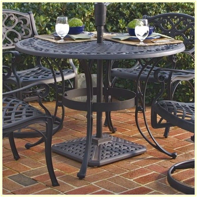 Round Patio Table With Umbrella Hole