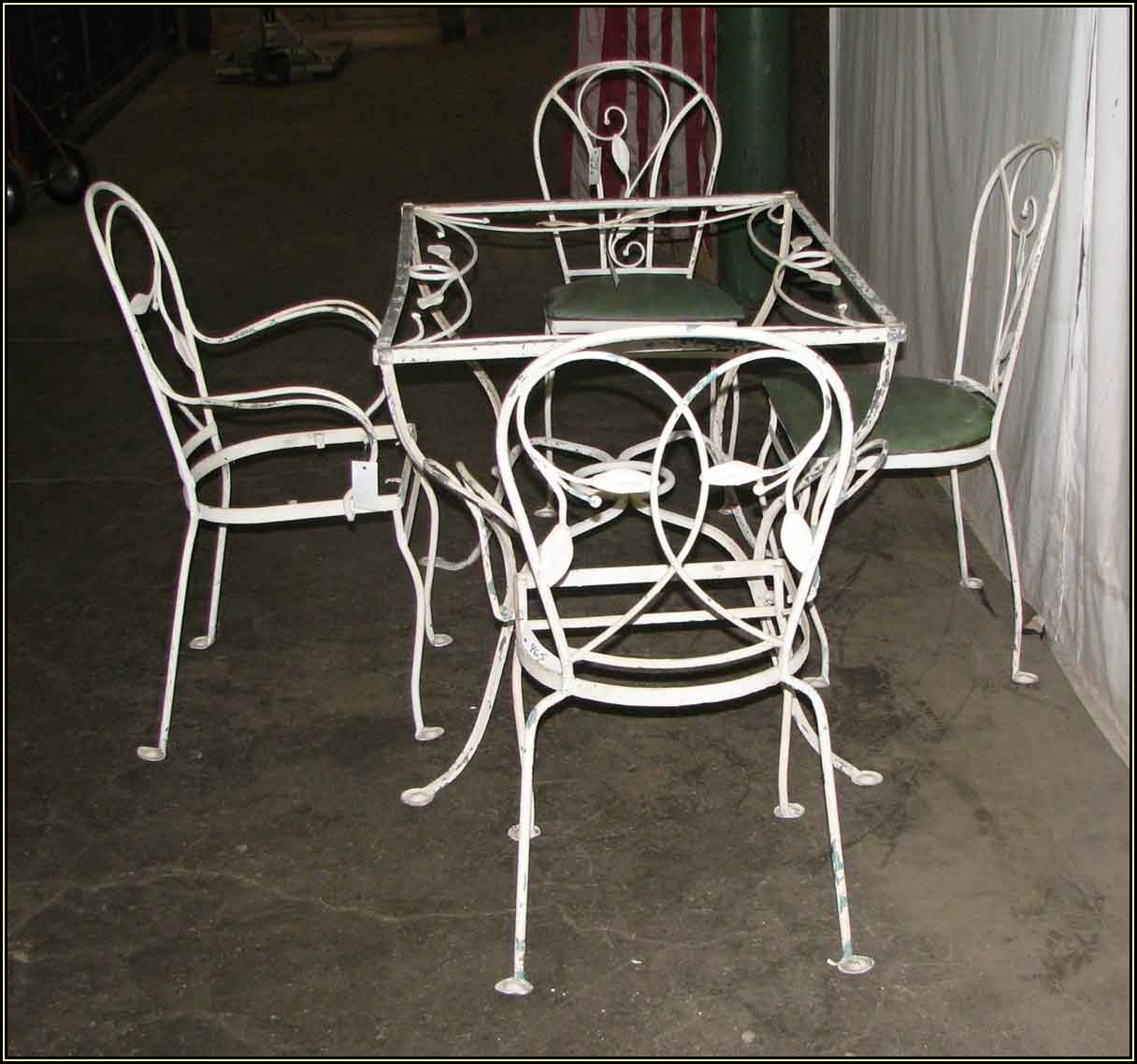 Salterini Vintage Wrought Iron Patio Furniture