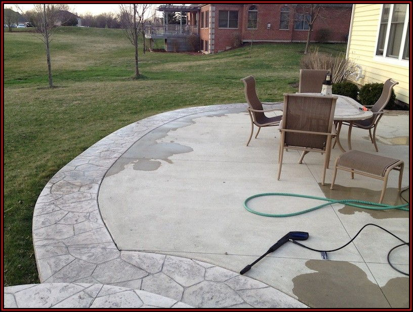 Sealing Stamped Concrete Patio