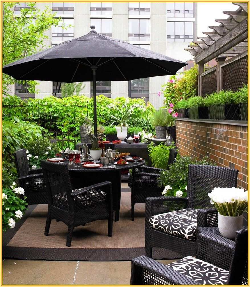 Small Townhouse Patio Decorating Ideas