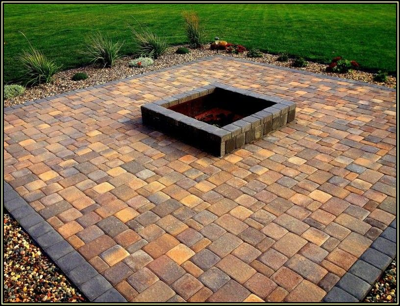 Square Paver Patio With Fire Pit