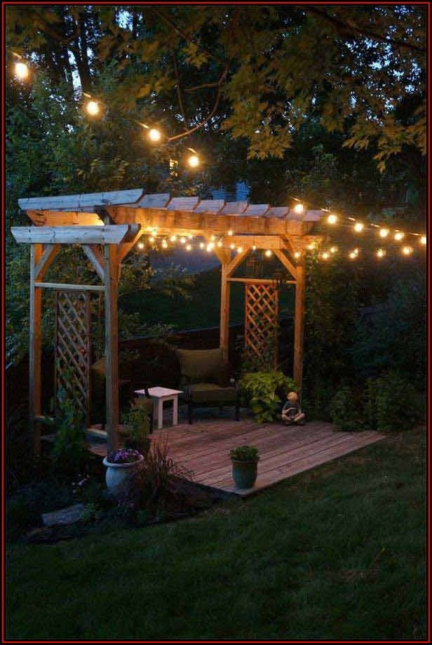 String Lights On Patio Ideas