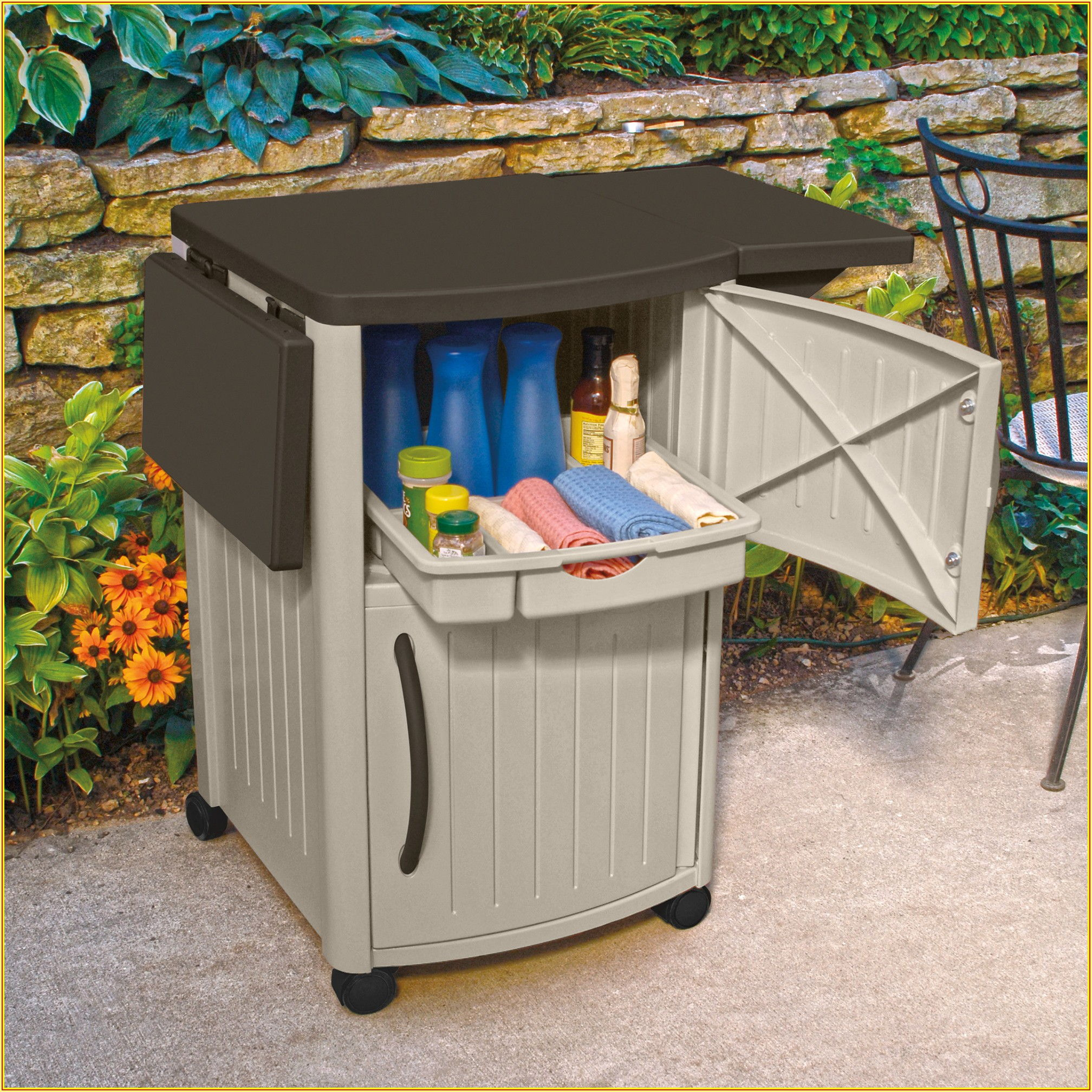 Suncast Patio Storage And Prep Station Assembly Instructions
