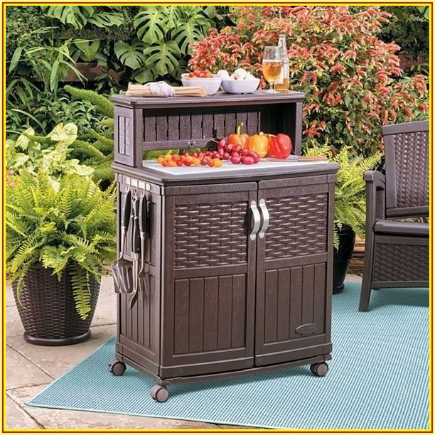 Suncast Patio Storage And Prep Station Instructions