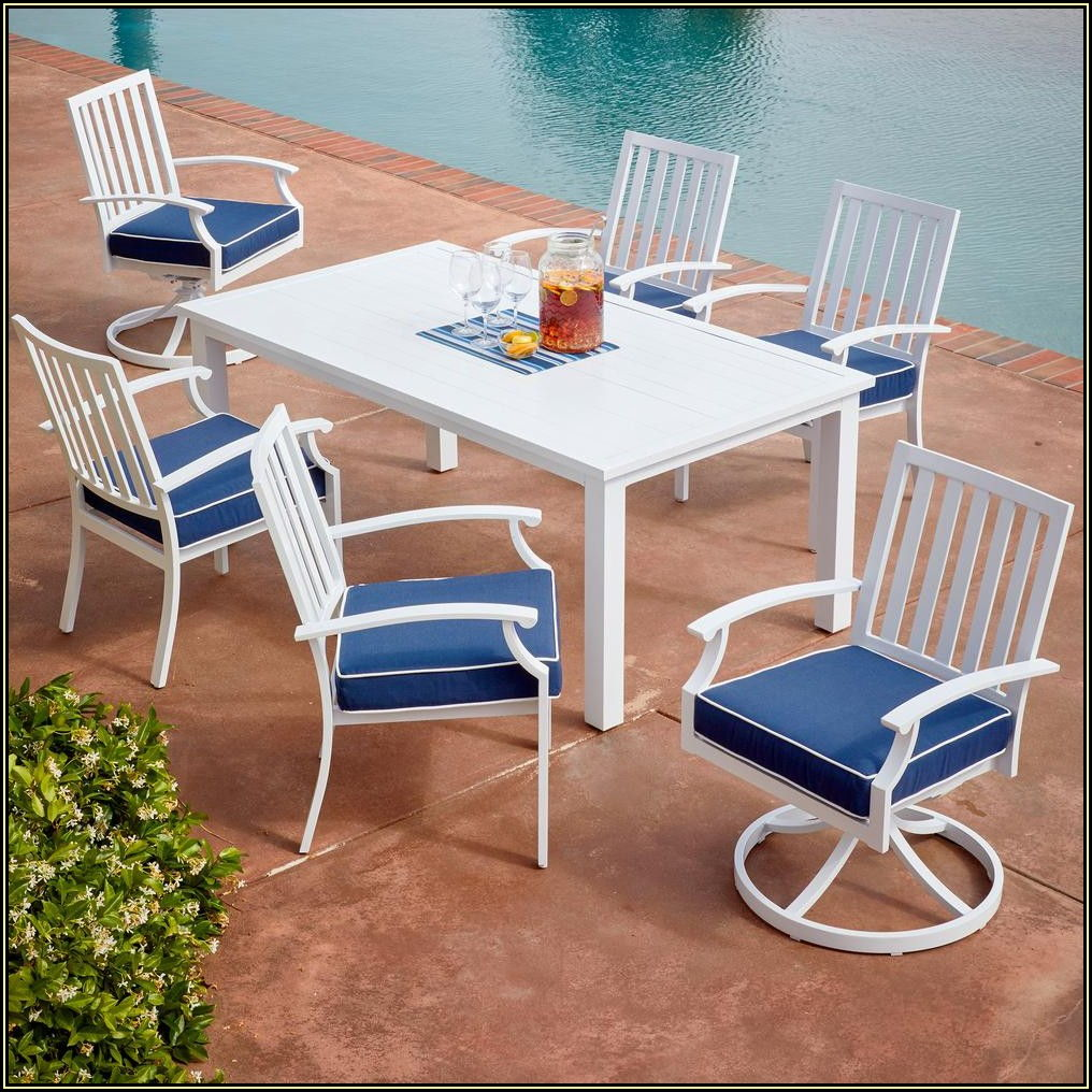 White Aluminum Patio Dining Set