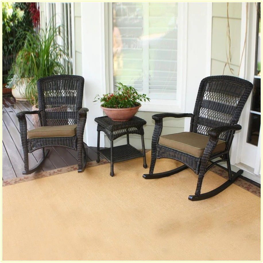 Wicker 3 Piece Patio Set