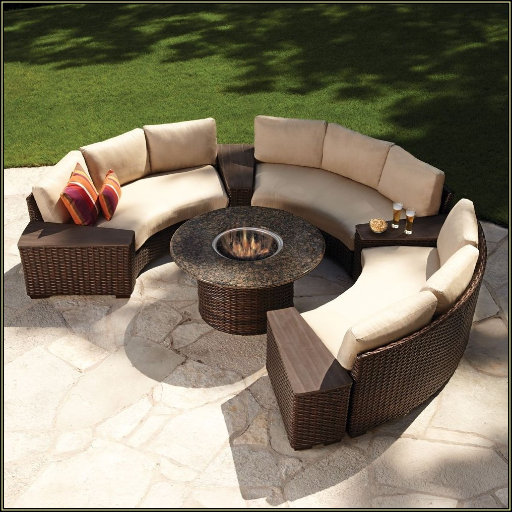 Wicker Patio Furniture Set With Fire Pit