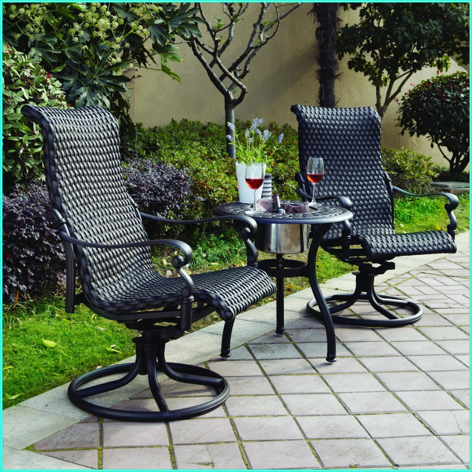 Wicker Swivel Patio Chairs