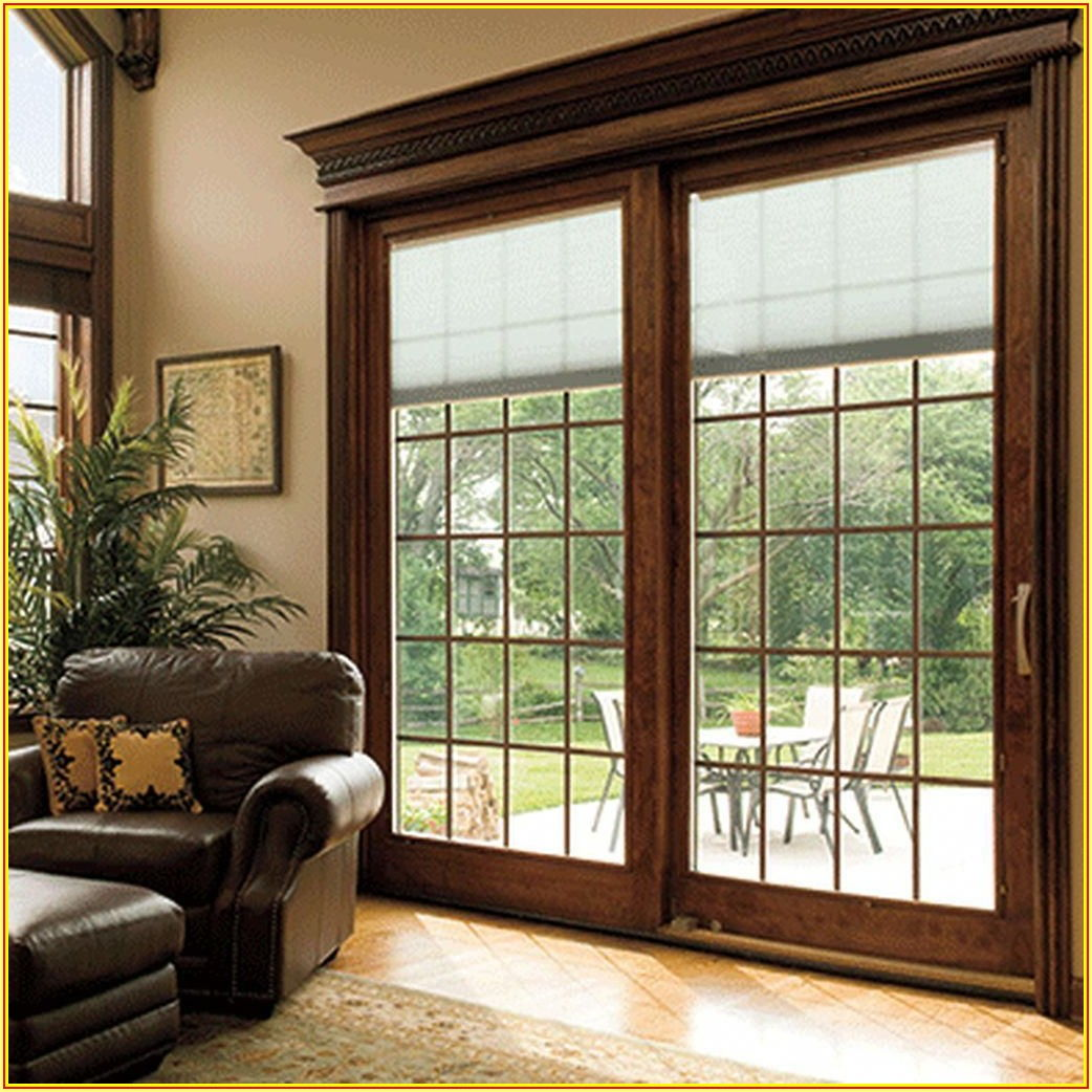 Wood Sliding Patio Doors With Built In Blinds