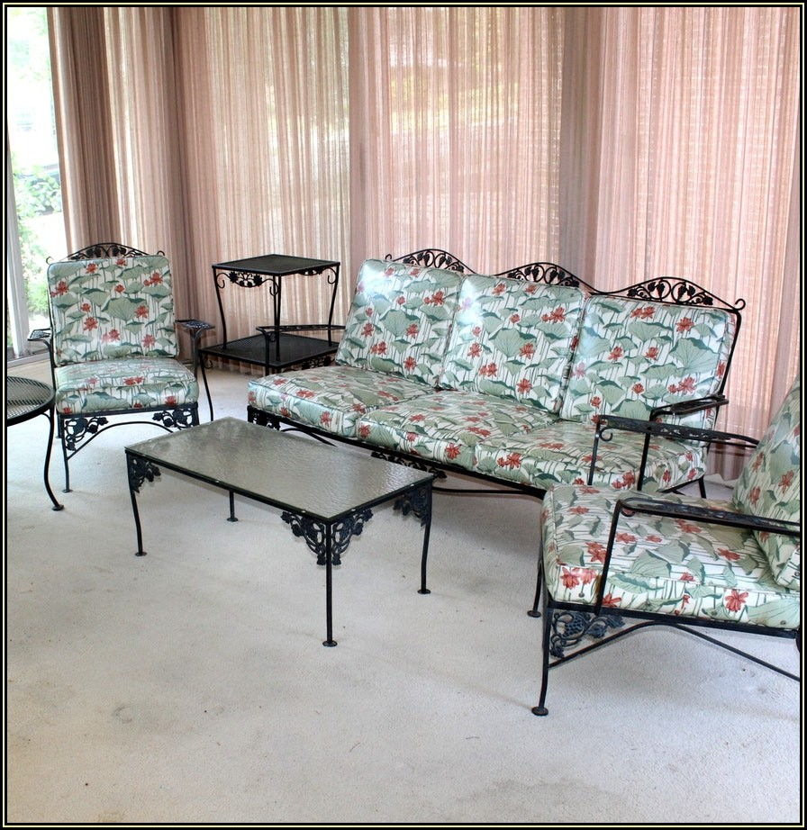 Woodard Vintage Wrought Iron Patio Furniture